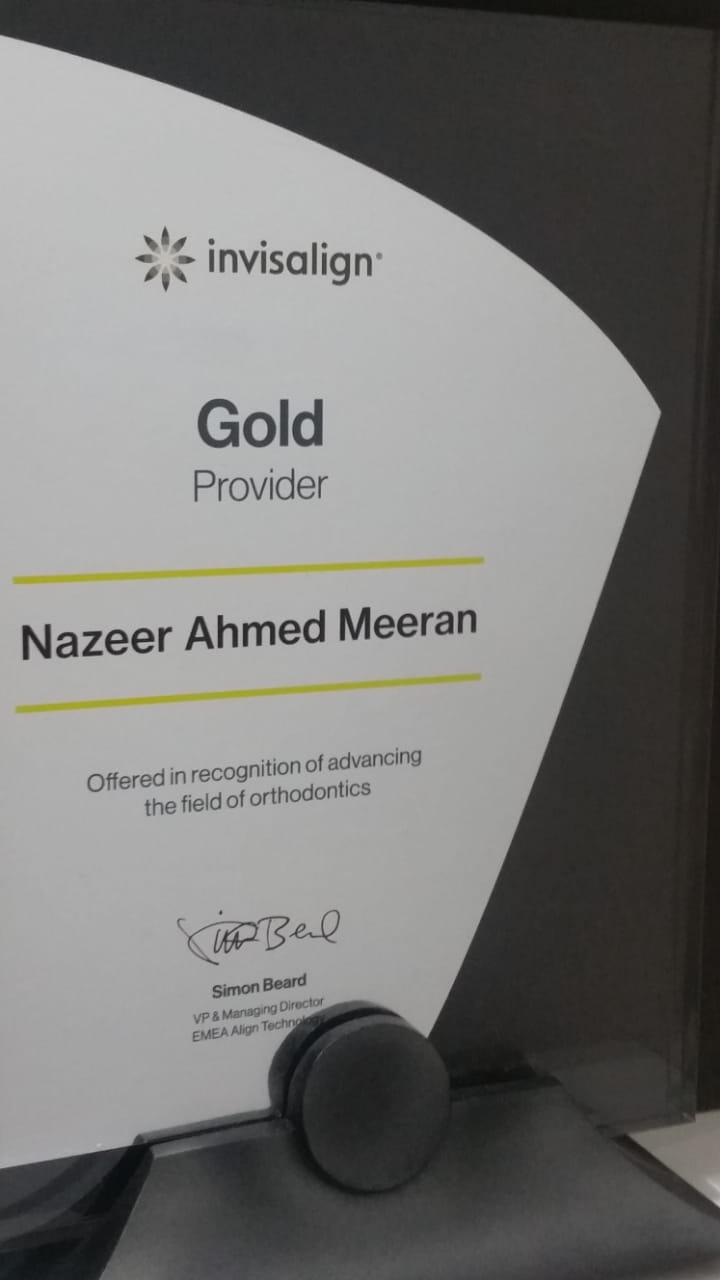 Invisalign Gold Provider in Dubai - Dr. Nazeer Ahmed Meeran - Orthodontist Dubai
